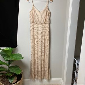 Adrianna Papell Blouson beaded gown dress size 12